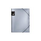 Karton PP Metallic Desky s gumou A4 PP - stříbrná