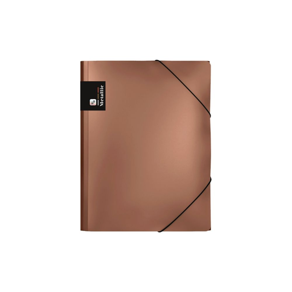 Karton PP Metallic Desky s gumou A4 PP - měděná