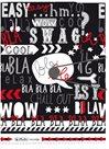 Herlitz Desky s gumou A4 3 klopy - Black&WOW Slogan