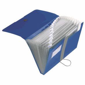 Herlitz Spisové desky A4 PP organizační, 12 přihrádek - modré