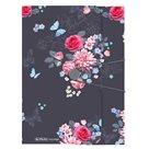 Herlitz Desky s gumou A4 3 klopy Ladylike - květy