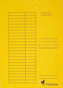 Victoria Desky A4 s rychlovazačem 5ks  - žluté
