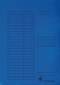Victoria Desky A4 s chlopněmi 5 ks - modré