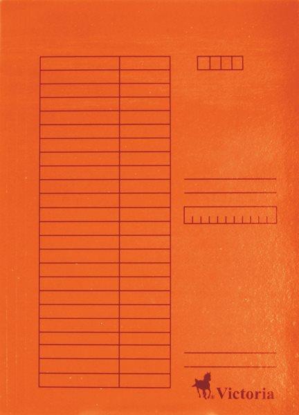 Victoria Desky A4 s chlopněmi 5 ks - oranžové
