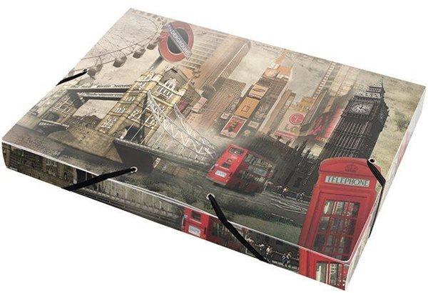 PP Box na dokumenty s gumou A4 - London