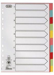 ELBA Rozdružovač A4 barevný - 10 listů