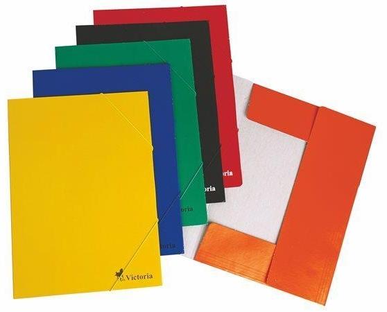 Victoria Spisové desky s gumou A4 karton - oranžové
