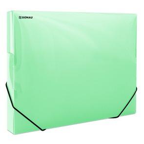 Donau Box na spisy s gumou A4, 3 cm, PP - zelený