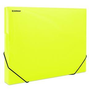 Donau Box na spisy s gumou A4, 3 cm, PP - žlutý