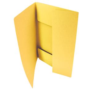 HIT Odkládací mapa A4 tříklopá Classic - žlutá