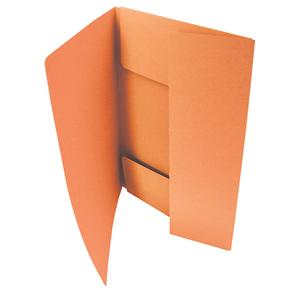HIT Odkládací mapa A4 tříklopá Classic - oranžová