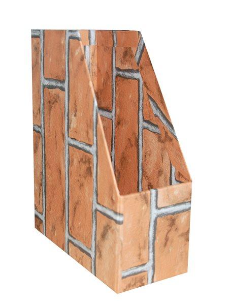 Archivační box 11 cm - motiv cihla