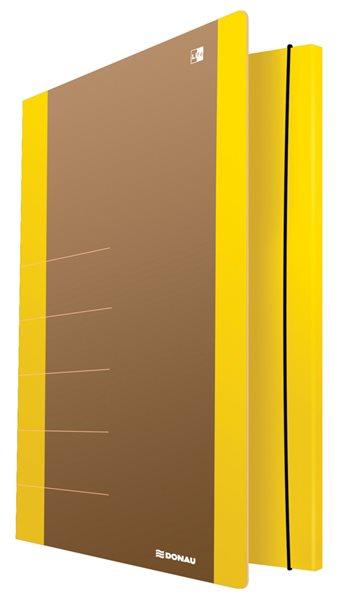 Donau Spisové desky s gumičkou LIFE A4, 3 klopy - neonově žluté