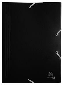 Exacompta Spisové desky s gumičkou A4 maxi, PP - černé