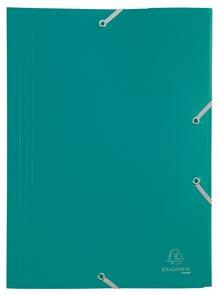 Exacompta Spisové desky s gumičkou A4 maxi, PP - zelené