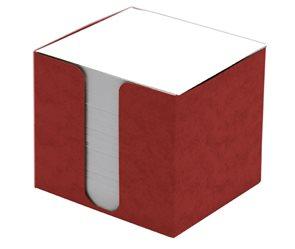 CAESAR OFFICE Špalíček nelepený 8,5x8,5x8 v krabičce - červená