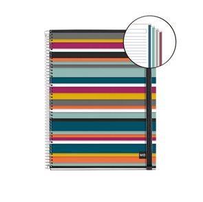 Spirálový blok Oslo s rozdělovači, A4, 120 listů, 90 g, linkovaný, s gumičkou