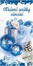 Stil Vánoční blahopřání - Krásné svátky vánoční (modré)