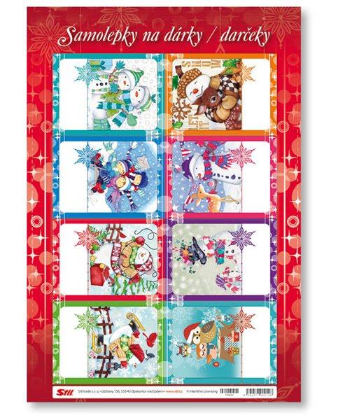 Stil Vánoční samolepky na dárky - dětské