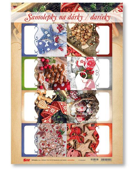 Stil Vánoční samolepky na dárky - mix 3
