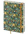 Zápisník Vario 120 x 265 mm tečkovaný - květiny