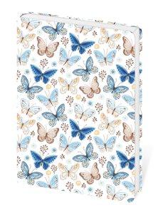 Zápisník Lyra linkovaný M, 13 x 19 cm - Butterfly/motýli
