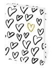 Zápisník Lyra linkovaný S, 10 x 15 cm - Love/srdíčka