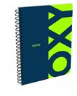 Kroužkový blok A4 - OXY modrá