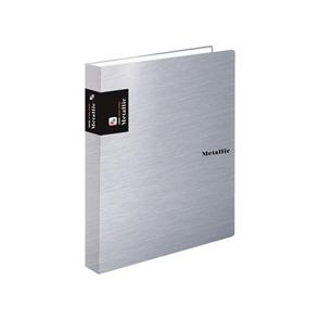 Karton PP Metallic Karis blok A5 - stříbrná