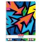 Herlitz Spirálový blok A4/80 listů čtverečkovaný NEON ART