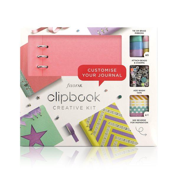 Filofax Clipbook A5 kreativní set - pastel. růžová