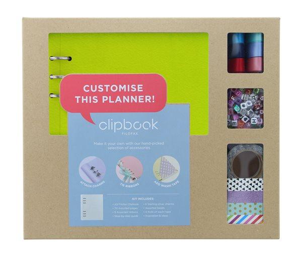 Filofax Clipbook A5 kreativní set - limetková
