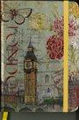 Zápisník A5 s gumičkou linkovaný - Londýn