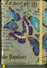 Zápisník A5 s gumičkou linkovaný - motýli