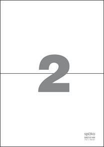 Spoko Samolepicí etikety A4 100 listů - 210 × 148 mm
