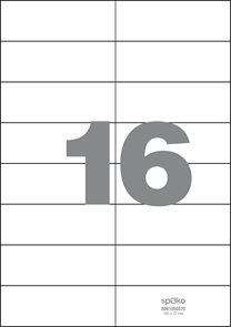 Spoko Samolepicí etikety A4 100 listů - 105 × 37 mm