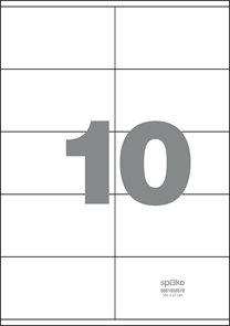 Spoko Samolepicí etikety A4 100 listů - 105 × 57 mm