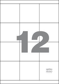 Spoko Samolepicí etikety A4 100 listů - 70 × 67,7 mm