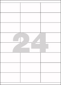 Spoko Samolepicí etikety A4 100 listů - 70 × 35 mm