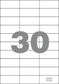 Spoko Samolepicí etikety A4 100 listů - 70 × 29,6 mm