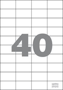 Spoko Samolepicí etikety A4 100 listů - 52,5 × 29,7 mm