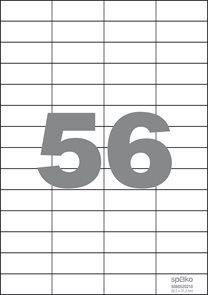 Spoko Samolepicí etikety A4 100 listů - 52,5 × 21,2 mm
