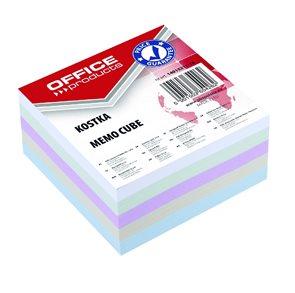 Poznámkový papír náhradní 85 × 85 × 40 mm, nelepený - pastelové barvy