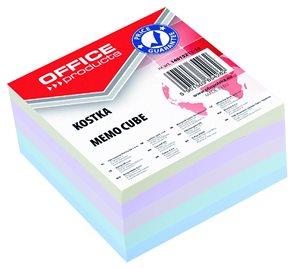 Poznámkový papír náhradní 85 × 85 × 40 mm, lepený - pastelové barvy