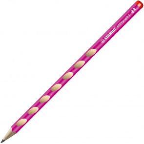 STABILO EASYgraph Slim P HB Tužka pro praváky - růžová