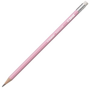 STABILO Swano Pastel Grafitová tužka s pryží HB - ružová