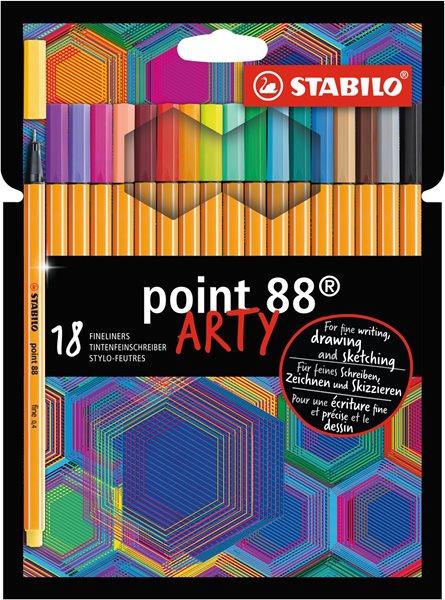 STABILO point 88 Jemný liner ARTY line - sada 18 barev