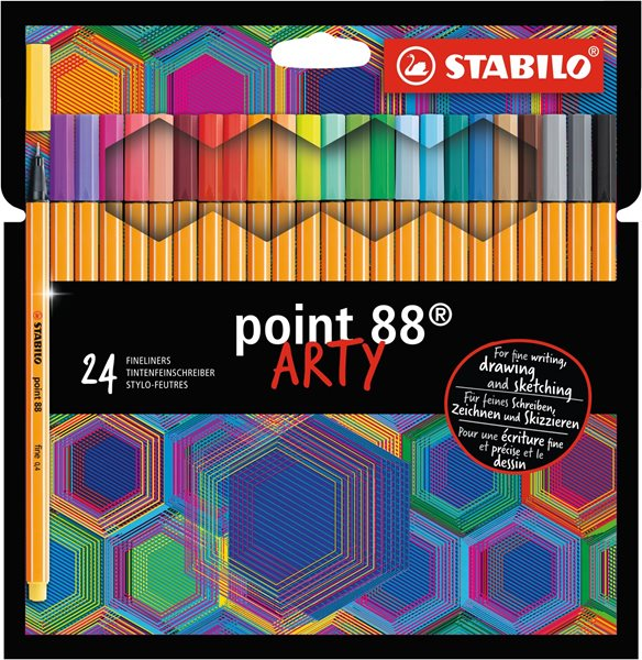 STABILO point 88 Jemný liner ARTY line - sada 24 barev