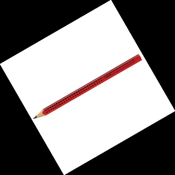 Grafitová tužka Faber-Castell Grip Jumbo B - červená