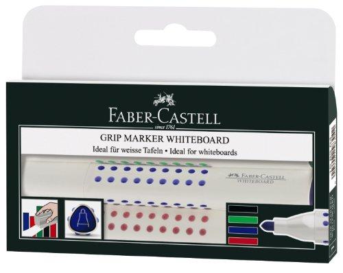 Popisovač na bílé tabule Faber-Castell Grip - sada 4ks